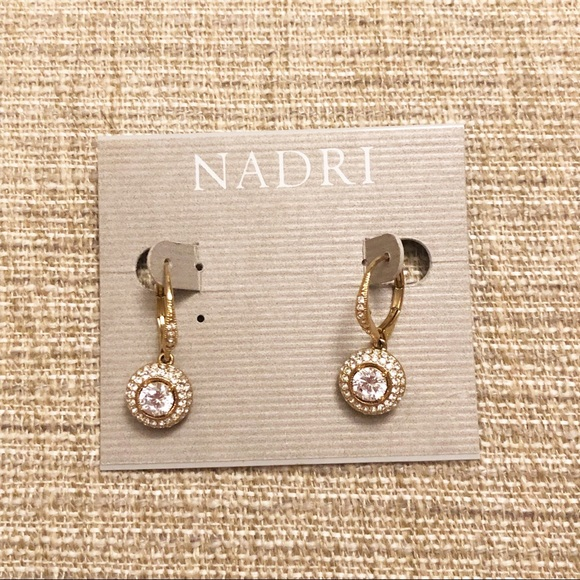 Nadri Jewelry - NWT Nadri Gold Drop Earrings